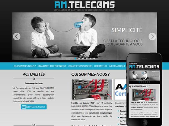 création de site web AM.telecoms