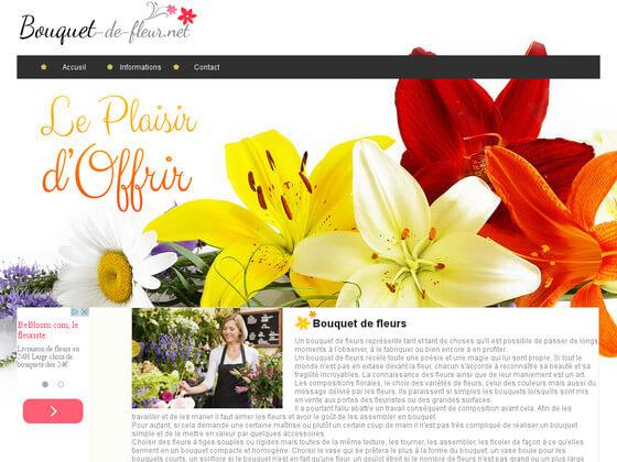Création d'un site informatif : Bouquet de fleur