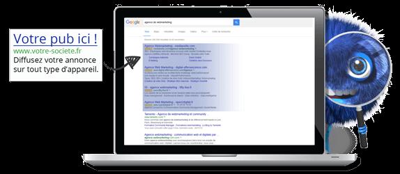 publicité google Adwords Neobiz