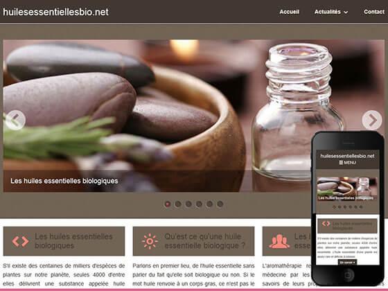 Création de sites Informatifs : huilesessentiellesbio