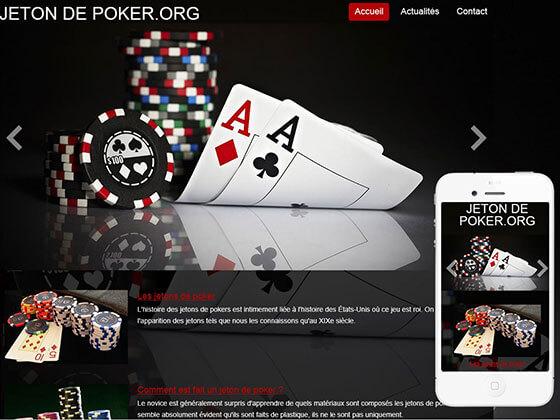 création du site jeton de poker