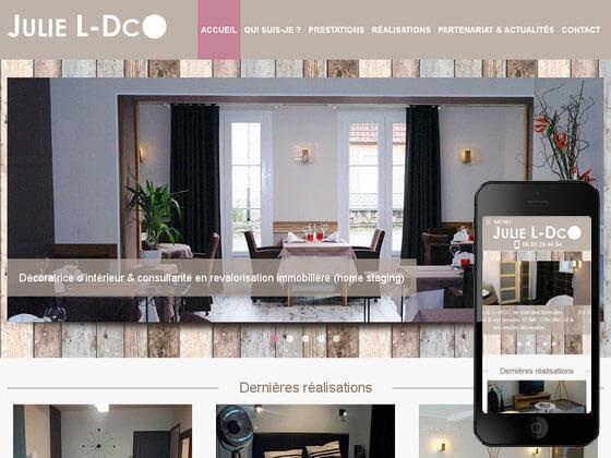 Création du site vitrine Julie L-Dco
