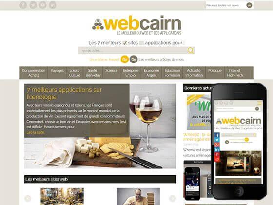 création du site webcairn