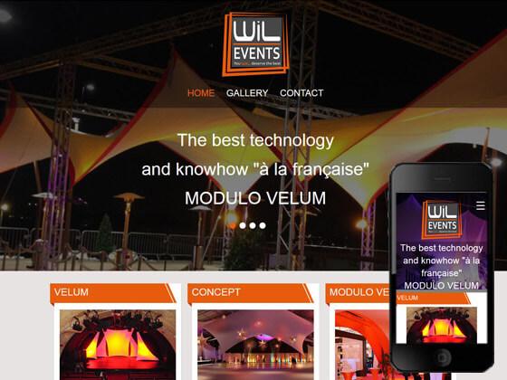 Création d'un site vitrine pour wil events