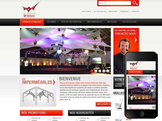 Création de boutique en ligne professionnelle : e-velum