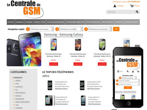 création du site e-commerce la centrale du gsm