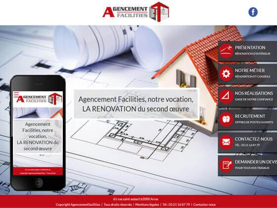 Création du site vitrine agencement facilities