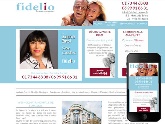 Création du site Fidelio seniors true love