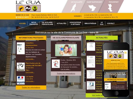 création du site de la mairie le Gua
