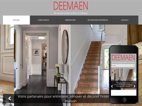 Création d'un site vitrine pour Deemaen